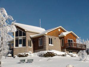 Bureau de Domaine des Appalaches en hiver
